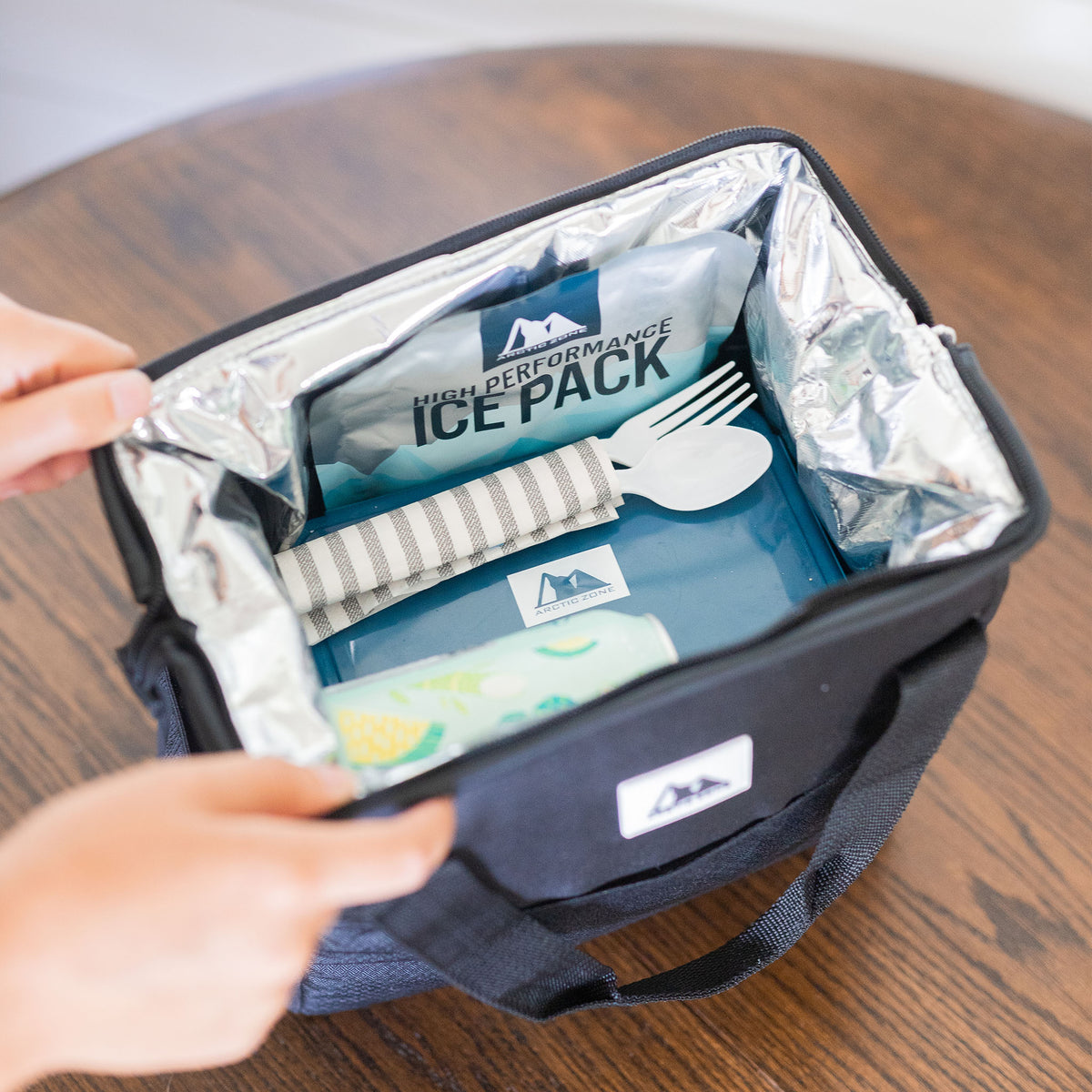 Arctic Zone® High Performance Meal Prep Lunch Bag M.D. - Leafy Lime - Lifestyle, showing off your packing skills