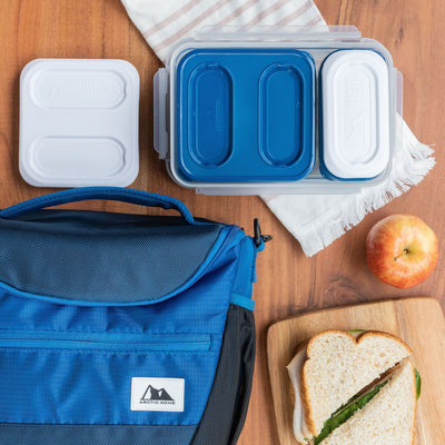 High Performance Meal Prep Day Pack - Blue - Lifestyle, prepping lunch at home