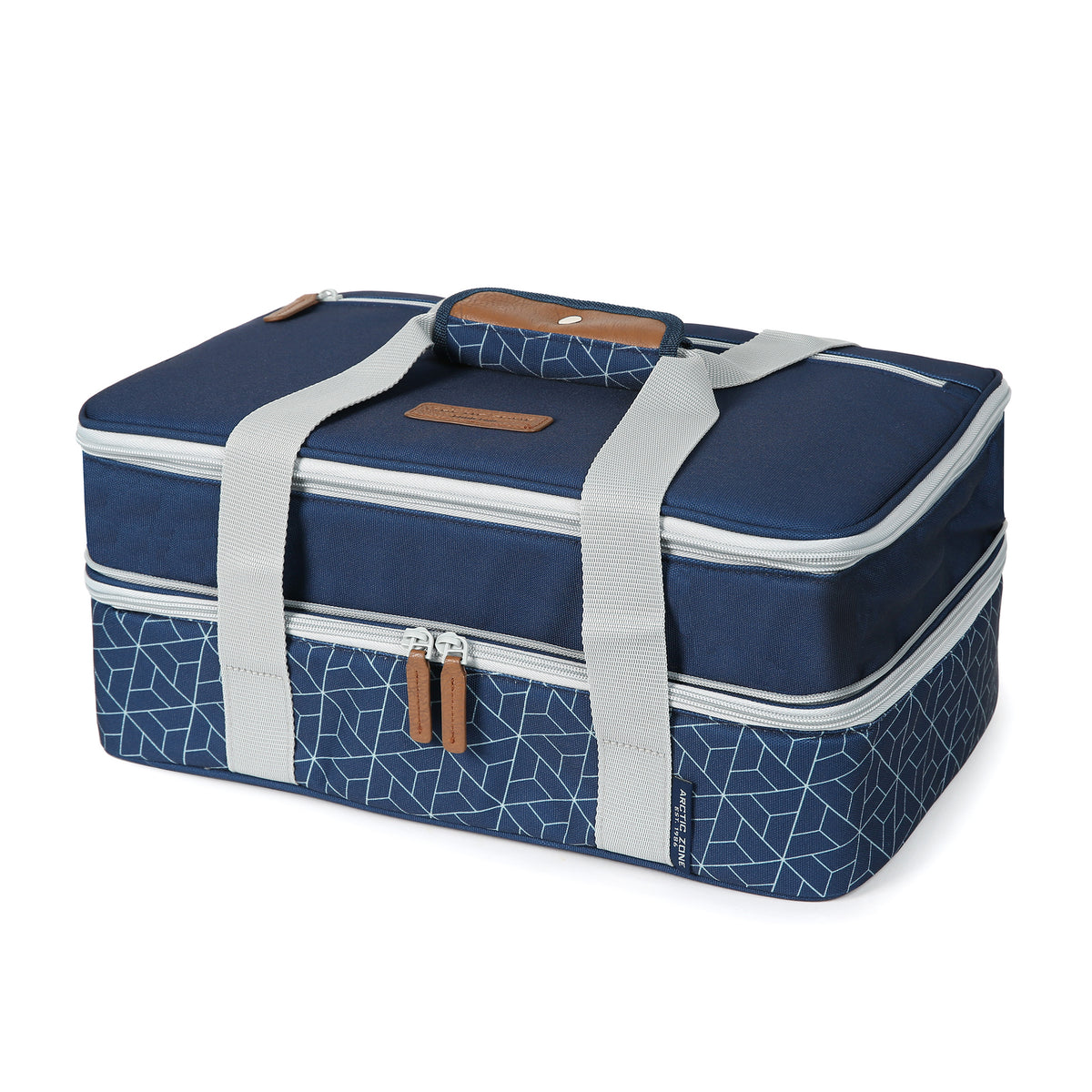Arctic Zone® Food Pro Expandable Thermal Carrier - Navy - Front, expanded, closed