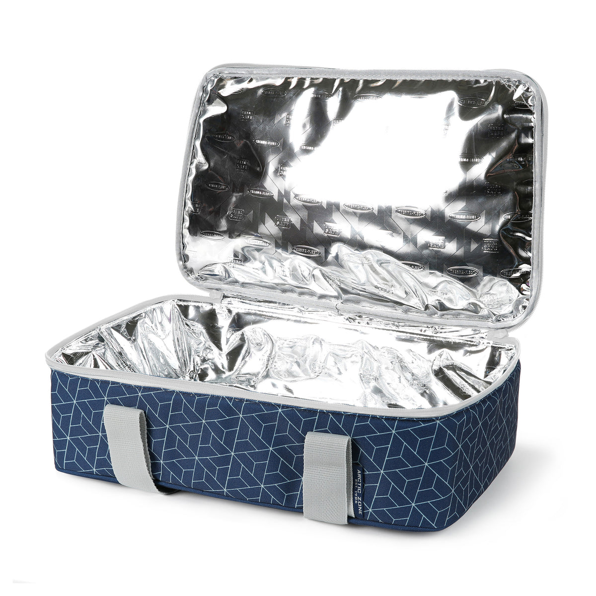 Arctic Zone® Food Pro Thermal Carrier - Navy - Open, empty