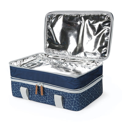 Arctic Zone® Food Pro Expandable Thermal Carrier - Navy - Open ,empty