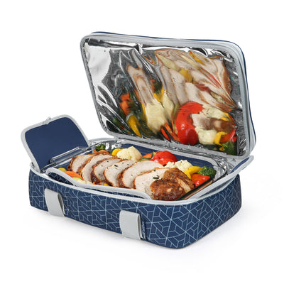 Arctic Zone® Food Pro Expandable Thermal Carrier - Navy - Bottom propped
