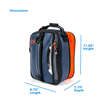 "Titan Deep Freeze® Expandable Lunch Box - Navy - Dimensions (Expanded): (L x D x H) 8.75"" x 5.75"" x 11.00"""