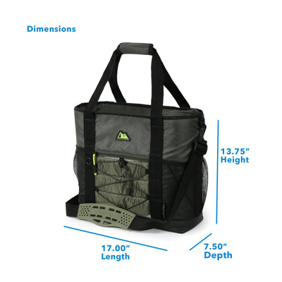"Arctic Zone® 30 Can Ultimate Sport Tote - Green - Dimensions: (L x D x H) 17.00"" x 7.50"" x 13.75"""