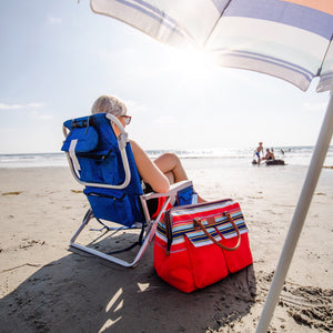 30 Can Insulated Picnic Carrier - lifestyle - beach
