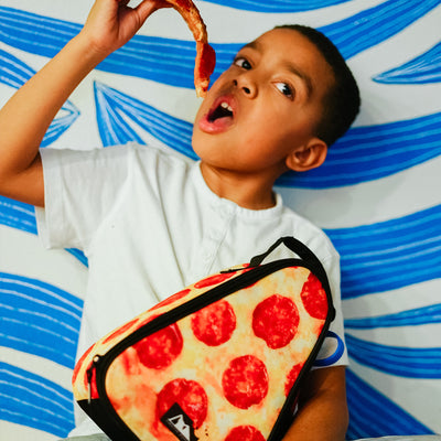 Arctic Zone® Pizza Lunch Pack - Lifestyle, Having some pizza for lunch