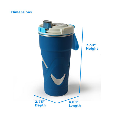 "Arctic Zone® 20oz Super Chug™ Stainless Steel - Blue - Dimensions: (L x D x H) 4.00"" x  3.75"" x 7.63"""
