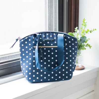 Arctic Zone® Dabney Lee Soft Tote - Dottie Navy - Lifestyle, lunch bag on the counter