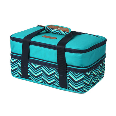 Arctic Zone® Food Pro Expandable Thermal Carrier - Teal - Front, expanded, closed