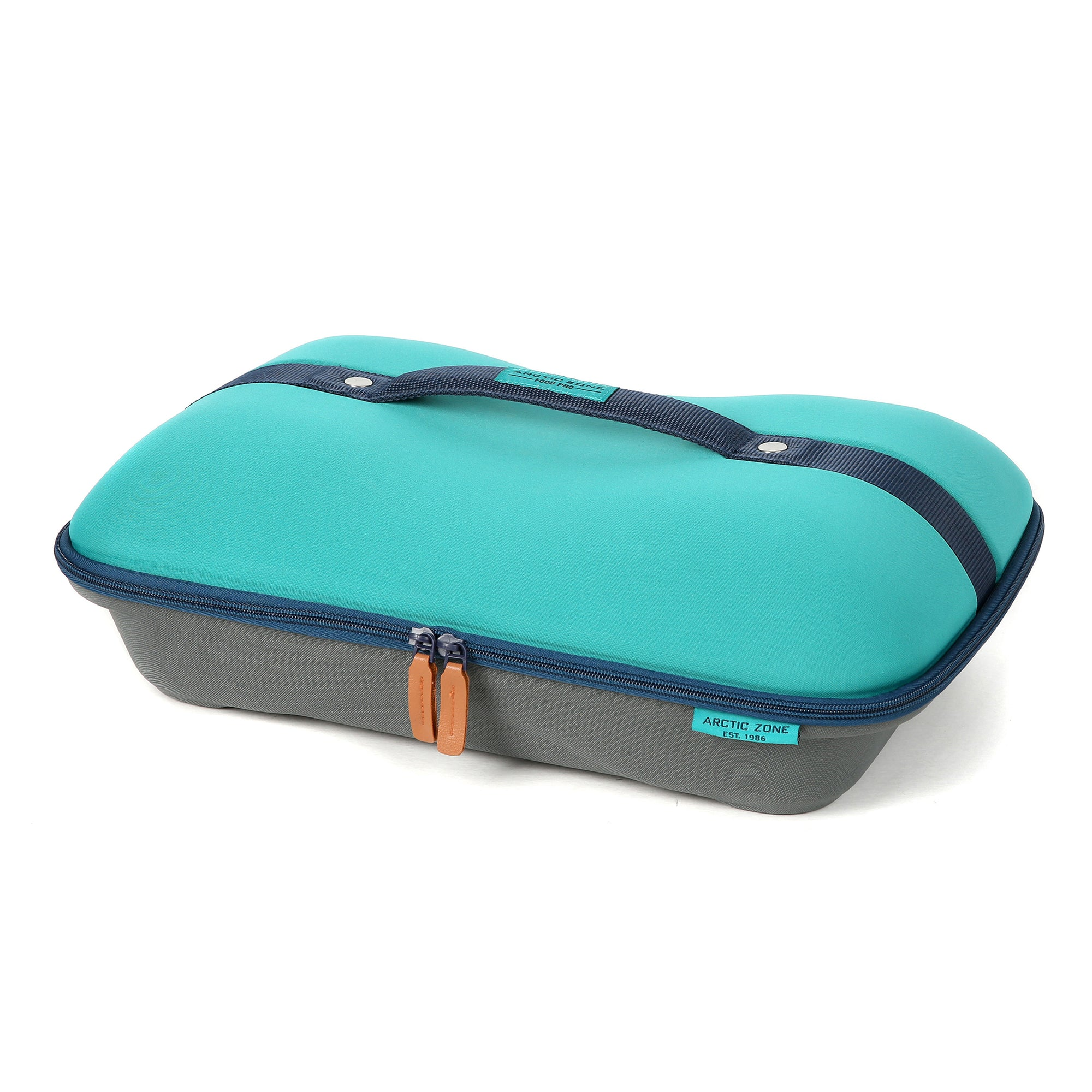 Arctic Zone® Food Pro Deluxe Thermal Carrier - Teal - Front, closed