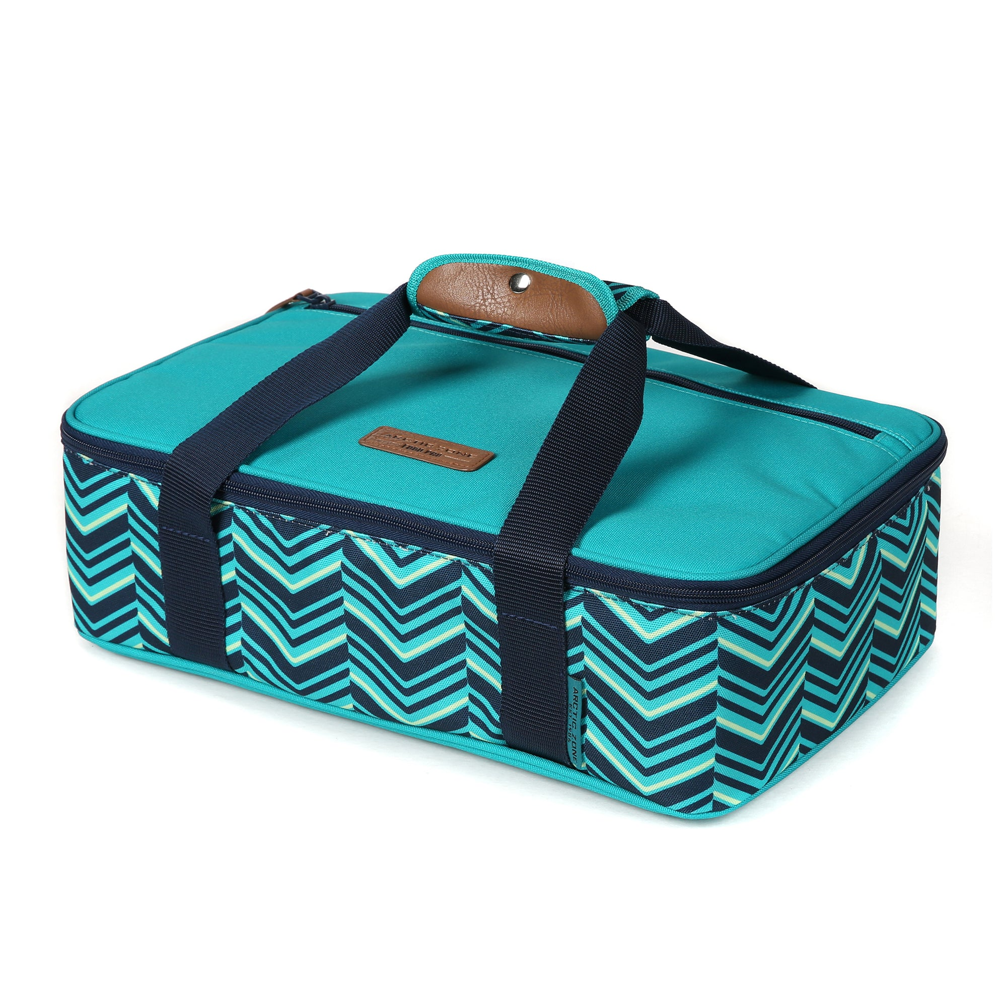 Arctic Zone® Food Pro Thermal Carrier -Teal - Front, closed