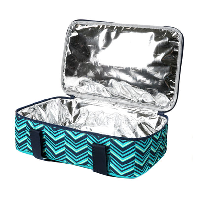 Arctic Zone® Food Pro Thermal Carrier -Teal - Open, empty