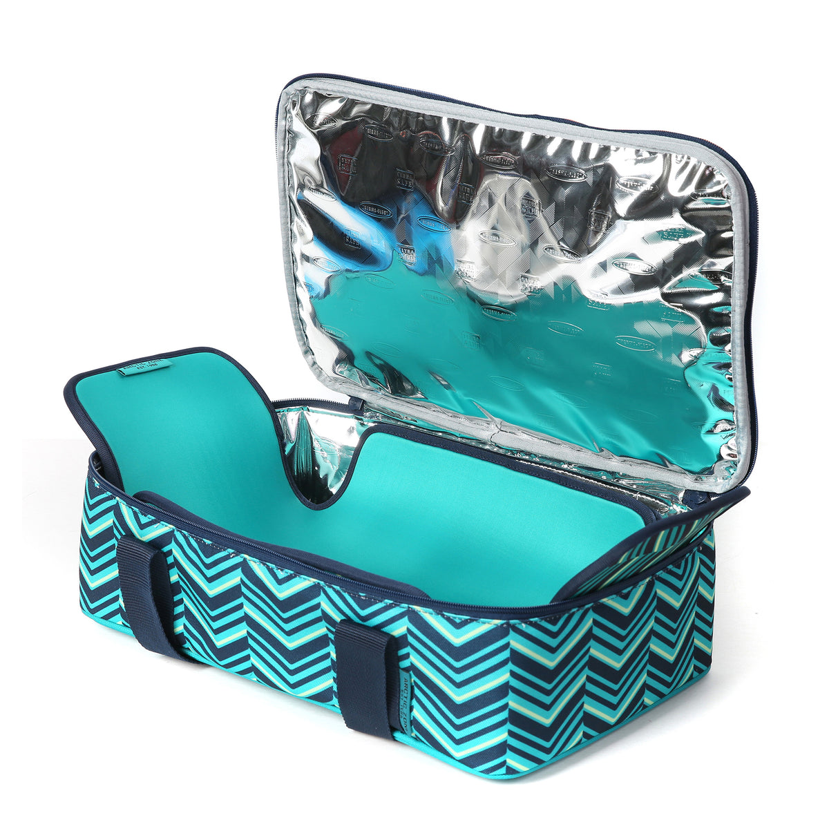 Arctic Zone® Food Pro Thermal Carrier -Teal - Open with trivet