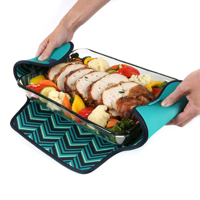 Arctic Zone® Food Pro Thermal Carrier -Teal - Trivet propped