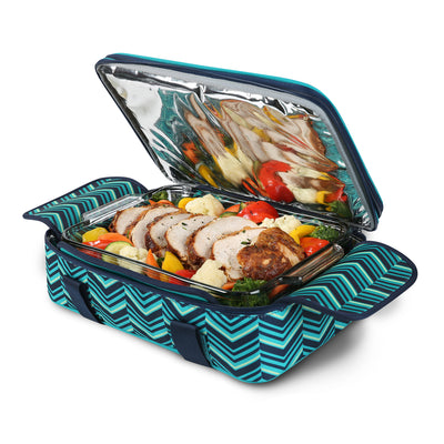 Arctic Zone® Food Pro Expandable Thermal Carrier - Teal - Bottom propped