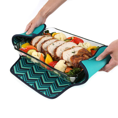 Arctic Zone® Food Pro Expandable Thermal Carrier - Teal - Trivet propped