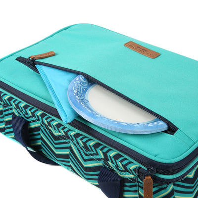 Arctic Zone® Food Pro Expandable Thermal Carrier - Teal - Top pocket