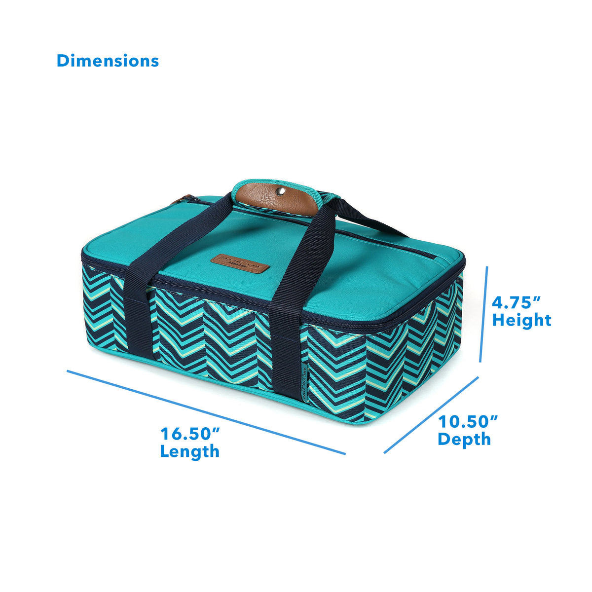 "Arctic Zone® Food Pro Thermal Carrier -Teal - Dimensions: (L x D x H) 16.50"" x 10.50"" x 4.75"""