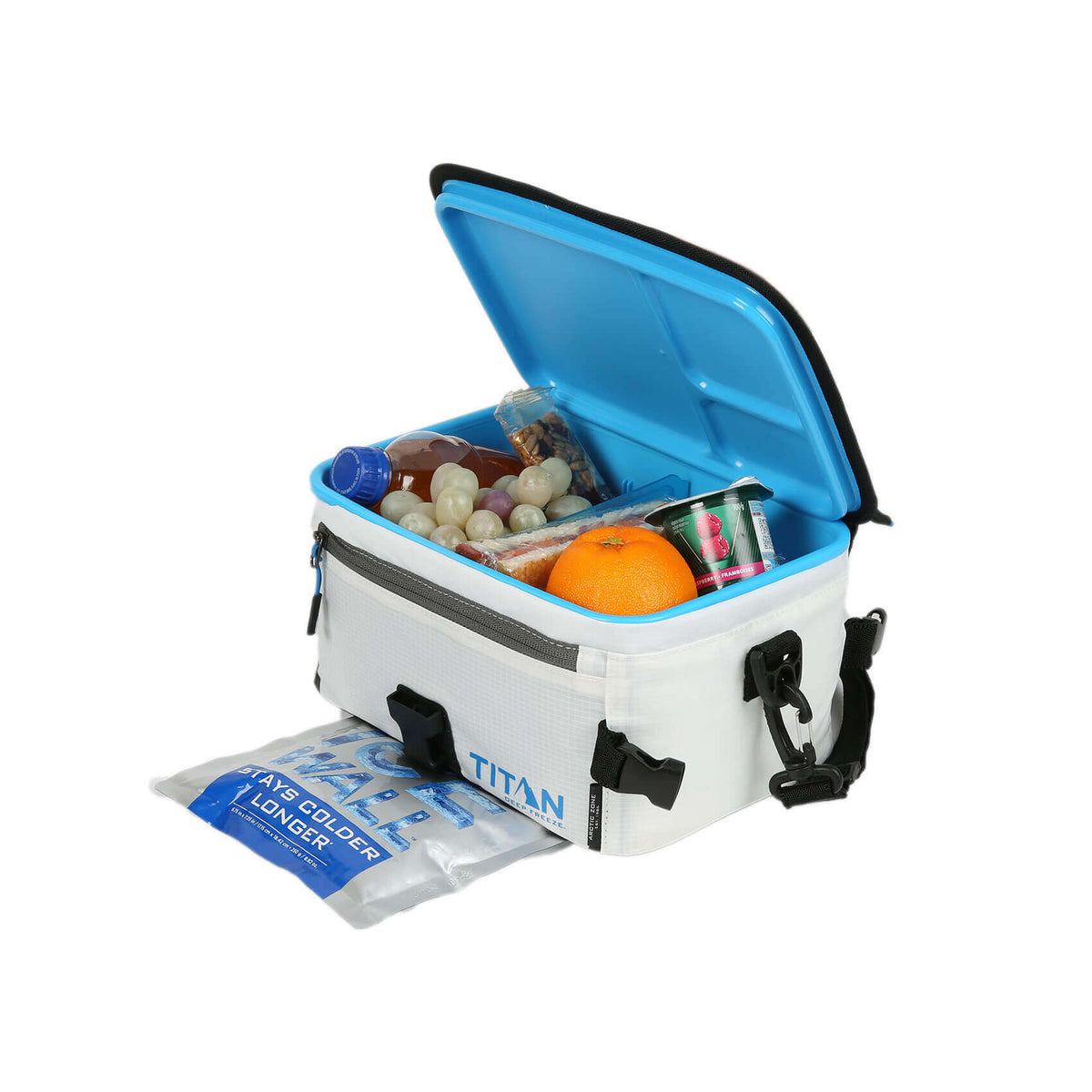 Titan Deep Freeze® Zipperless™ Lunch Box - Open, Full