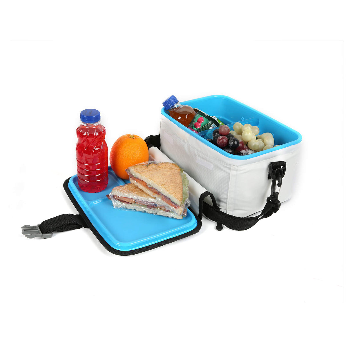 Titan Deep Freeze® Zipperless™ Lunch Box - White - 3 compartment tray