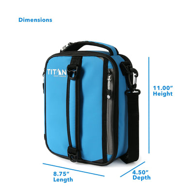 "Titan Deep Freeze® Expandable Lunch Box - Blue - Dimensions: (L x D x H) 8.75"" x 4.50"" x 11.00"""