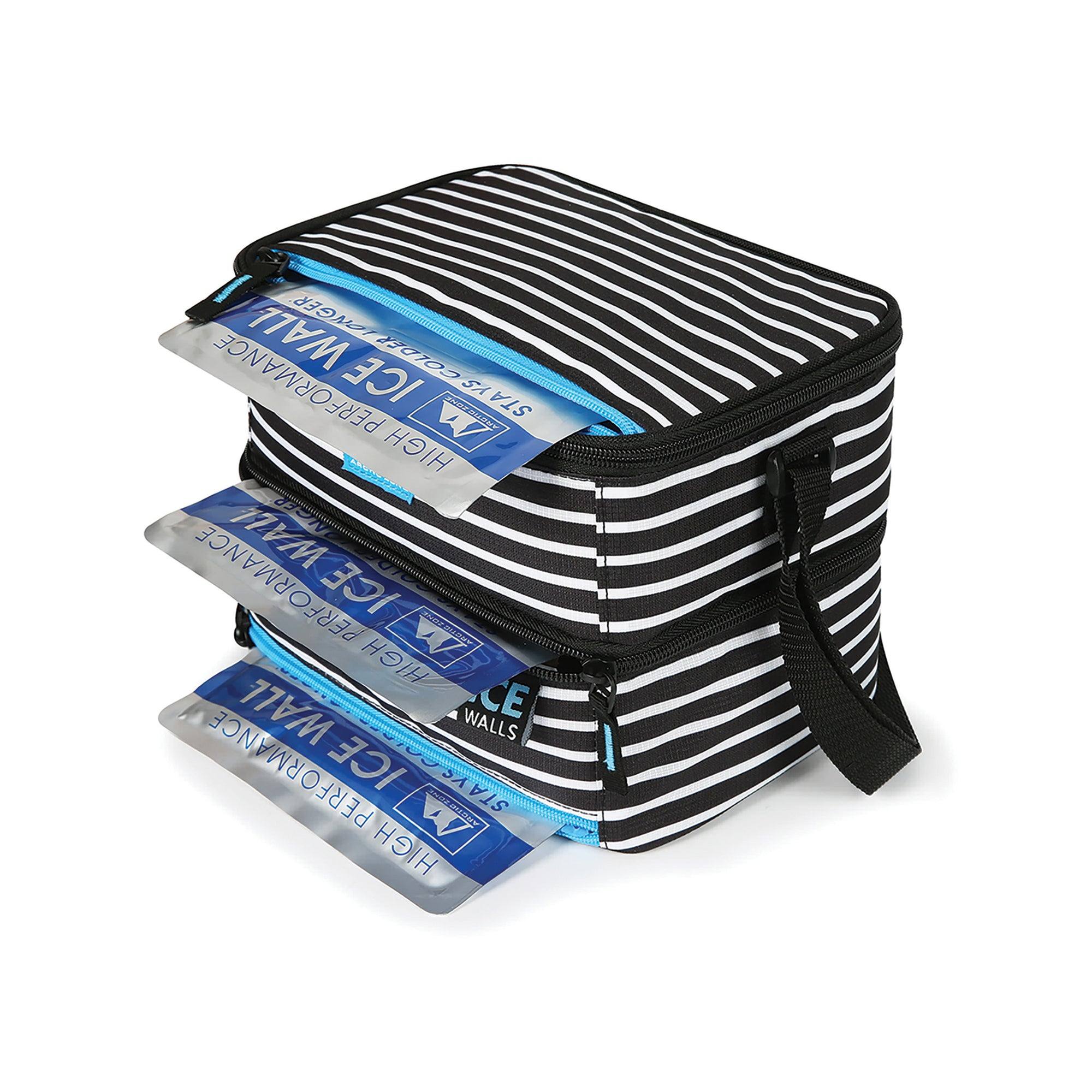 Arctic Zone® Ice Walls® Dual Compartment Lunch Pack with 3 Ice Walls® - ice walls inside