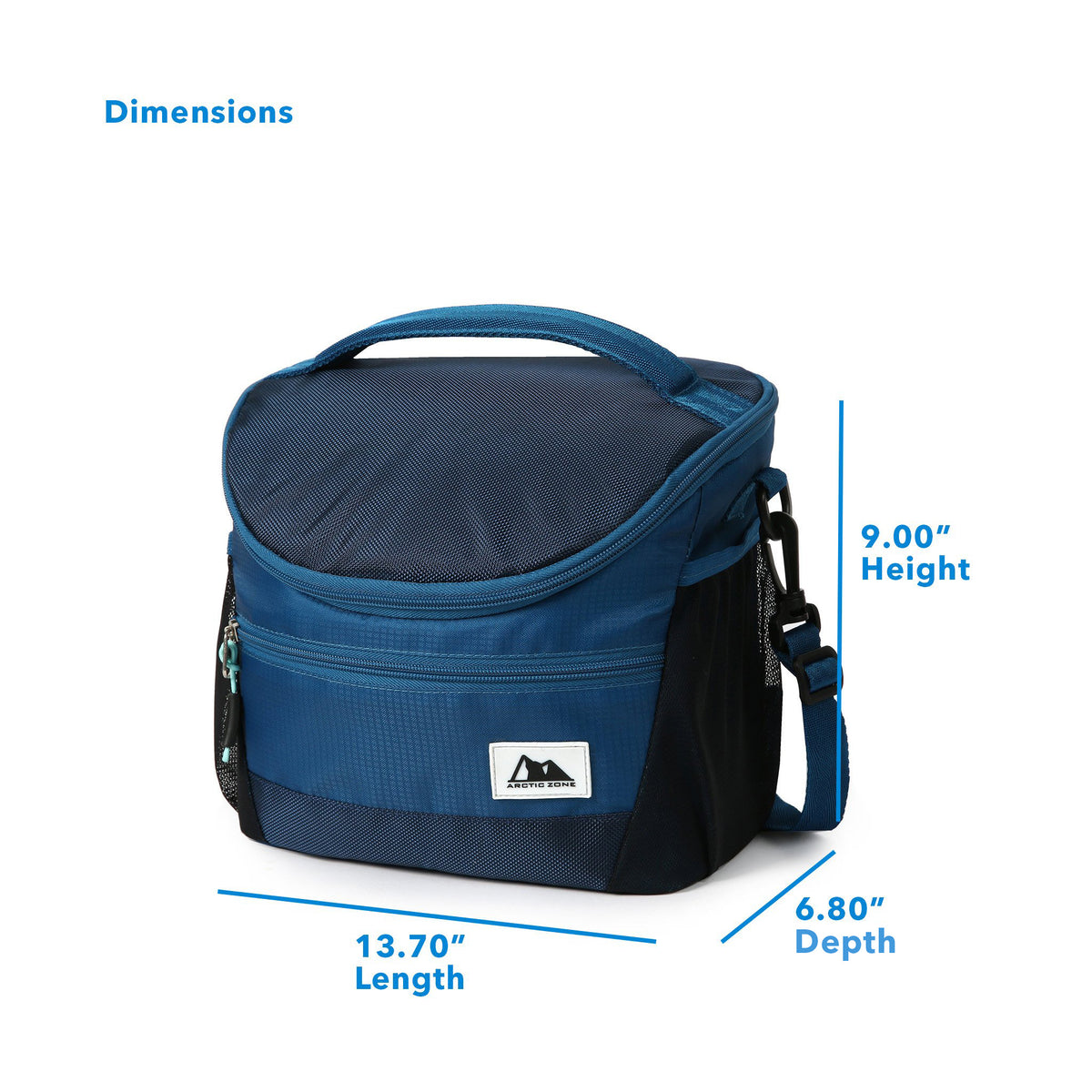 "High Performance Meal Prep Day Pack - Blue - Dimensions (L x D x H) 13.70"" x 6.80"" x 9.00"""