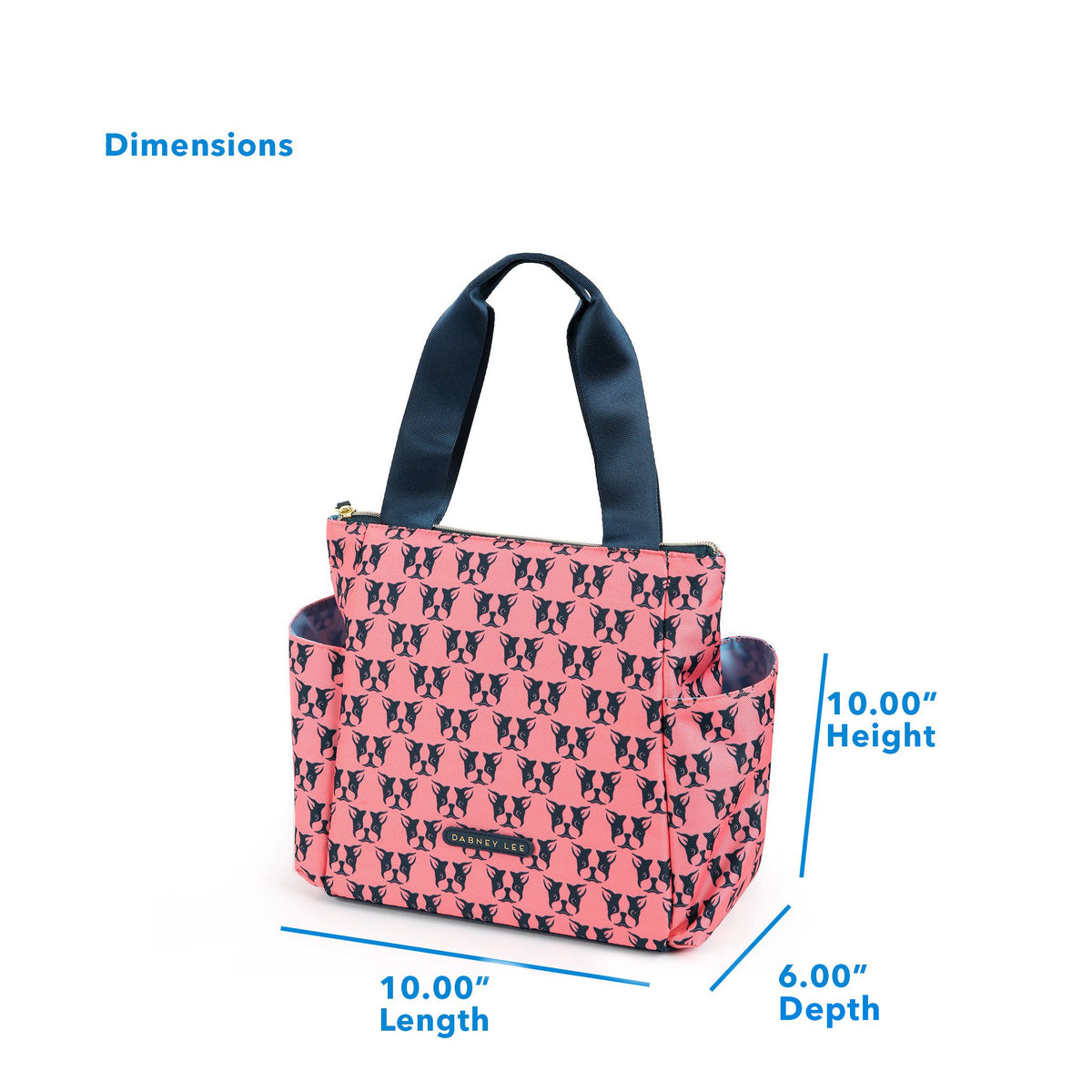 "Arctic Zone® Dabney Lee Karina Tote - Polly Coral - Dimensions: (L x D x H) 10.00"" x 6.00"" x 10.00"""