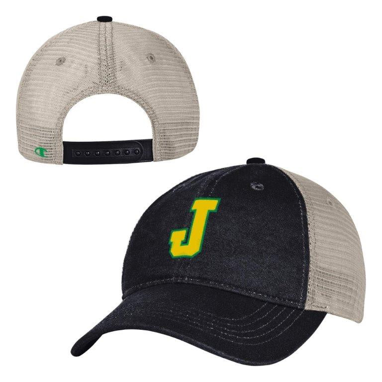 a4435c38aaba0 Champion Mesh Trucker Hat - Black and Khaki – Jesuit High School ...