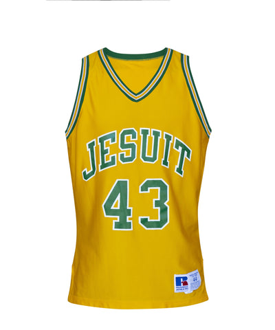 Vintage Basketball Jersey, Yellow