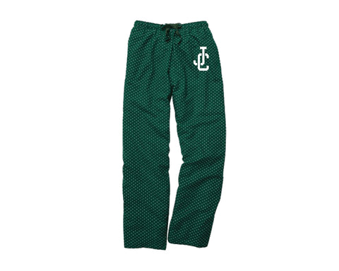 Green Dot Flannel Pants