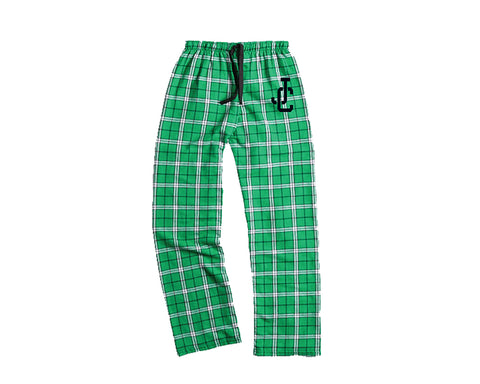 Kelly Green Plaid Flannel Pant