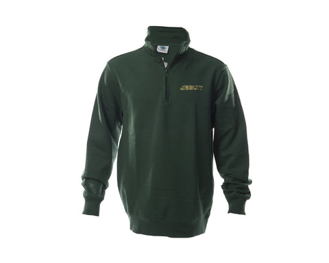 Green Quarter-zip Pullover Sweatshirt
