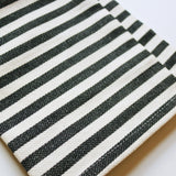 Black + White Striped Towel (set/2)