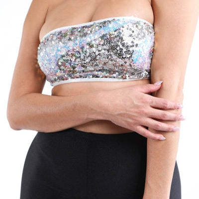 Sequin Tube Tank Top