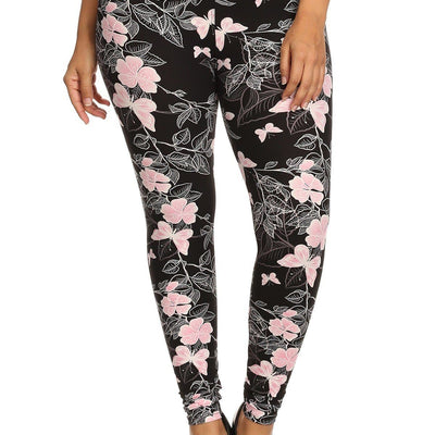 Butterfly Graphic Printed Knit Legging