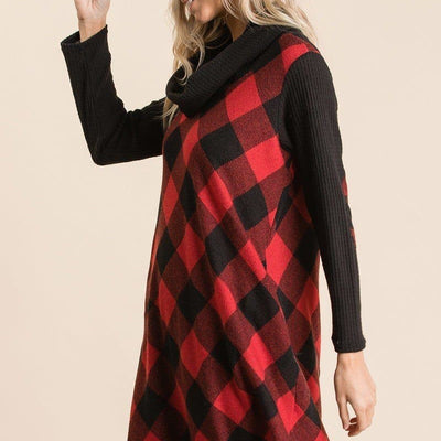 Buffalo Plaid Tartan Swing Dress