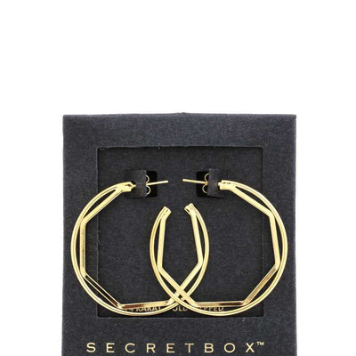 Secret Box Hexagon Shape Open Circle Earring
