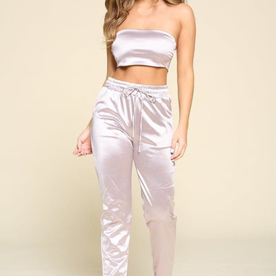 Tube Top Pant Set