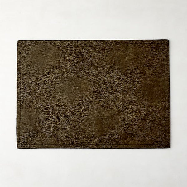 Faux Olive Leather Placemat