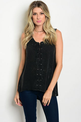 Allie Lace Up Top
