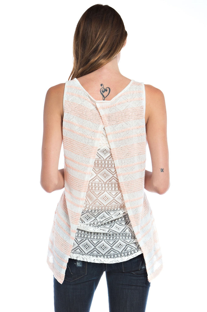 Womens Anchor Print Knit Tank Top