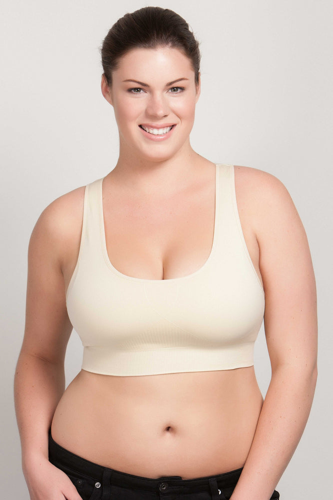 Breast Whisperer Bra for Natural Women in Beige Front