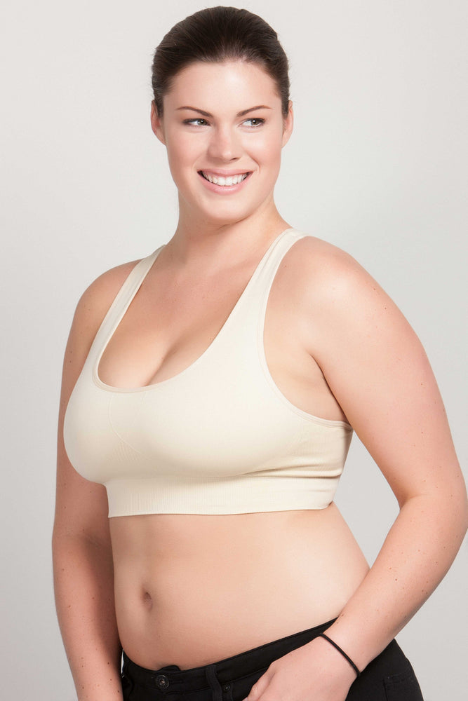 Breast Whisperer Bra for Natural Women in Beige Side