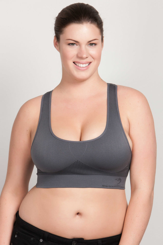 Breast Whisperer Bra for Natural Women in Charcoal Front