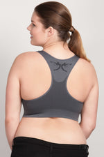 Breast Whisperer Bra for Natural Women in Charcoal Back