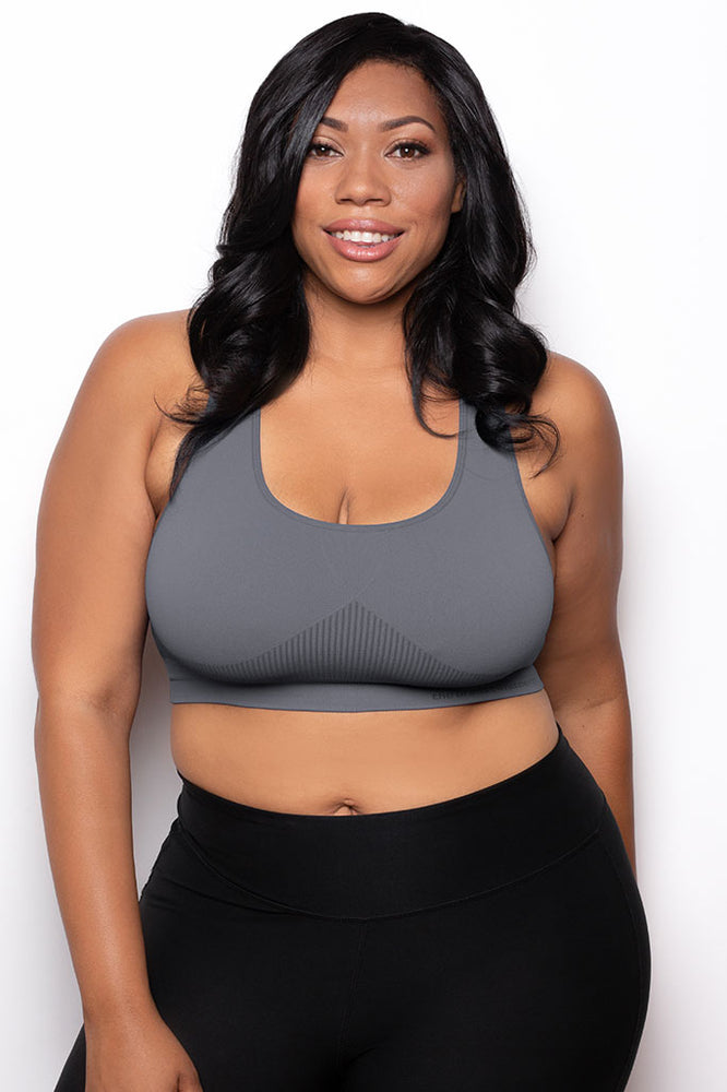 Breast Whisperer Bra Curve in Charcoal Front