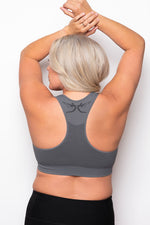 Breast Whisperer Bra Curve in Charcoal Back