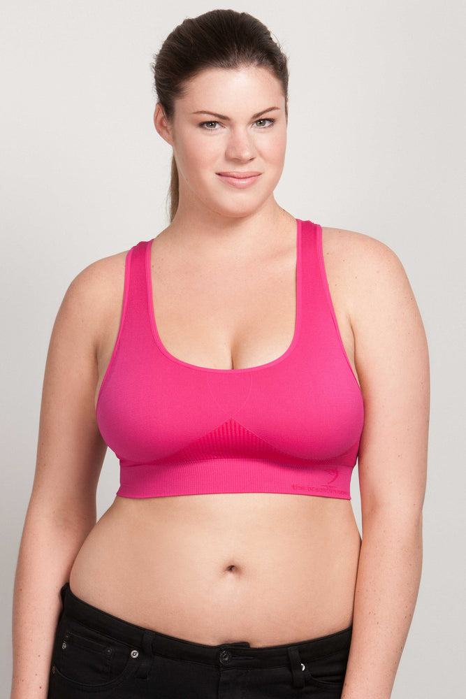 Breast Whisperer Bra for Natural Women in Hot Pink Front