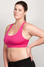 Breast Whisperer Bra for Natural Women in Hot Pink Side